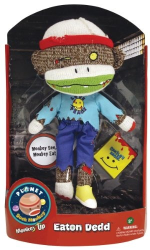 planet sock monkey doll eaton dedd