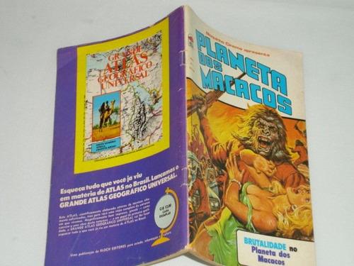 planeta dos macacos nº 7de 1975 raridade bloch quase nova
