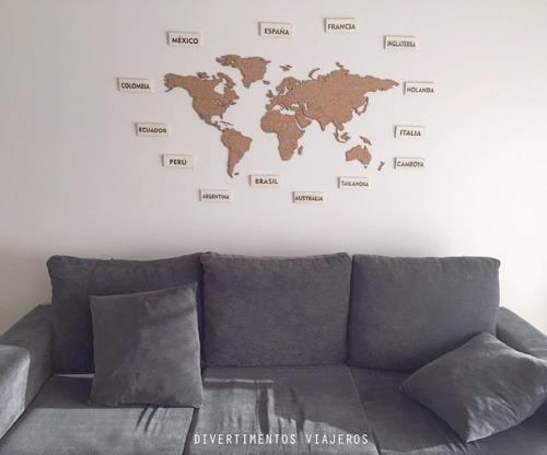 planiferio mapamundi de corcho 100x50cm ideal regalo