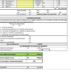 planilha cálculo desaposentação/revisão beneficios e rmi