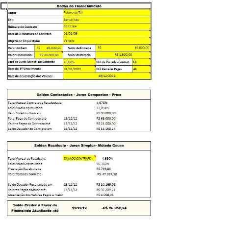 planilha calculo revisional+laudo contábil e petições