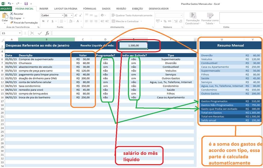 planilha controle de gastos pessoais frete gratis r 9 99 em