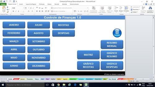 planilha de controle de finanças 1.0