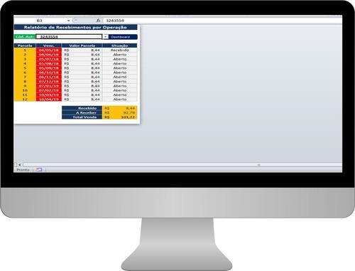 planilha de controle de vendas cartões de crédito e débito
