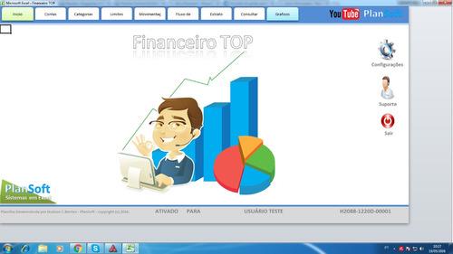 planilha de controle financeiro pessoal e empresarial