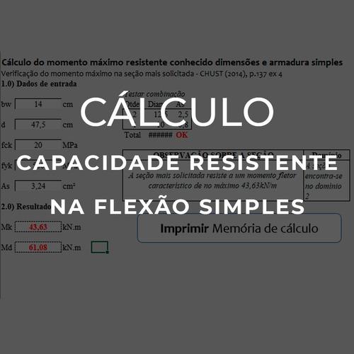 planilha de resistencia na flexao simples