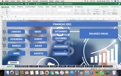 planilha excel - controle financeiro