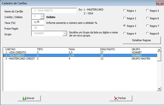 93a52655d Planilha Excel Controle Vendas Cartões De Crédito E Débito - R$ 19 ...