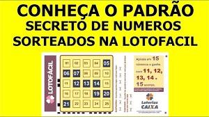 planilha lotofácil padrão secreto de números sorteados