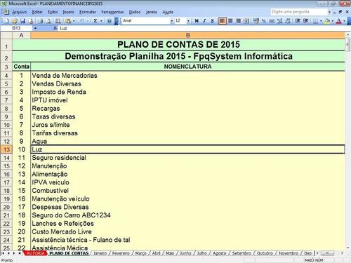 planilha planejamento financeiro e fluxo de caixa 2015