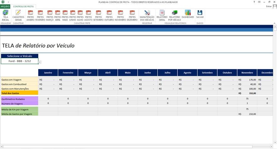 8d2c15f4f2 Planilha Profissional Excel Controle De Gastos Com Frete - R$ 24,90 ...