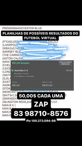 planilhas de possíveis resultados do futebol virtual bet365