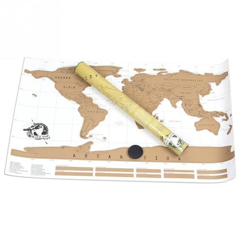 planisferio-mapamundi para raspar-poster