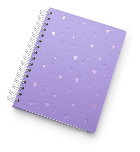 planner a5 de wire-o romantic lilás -  ótima gráfica