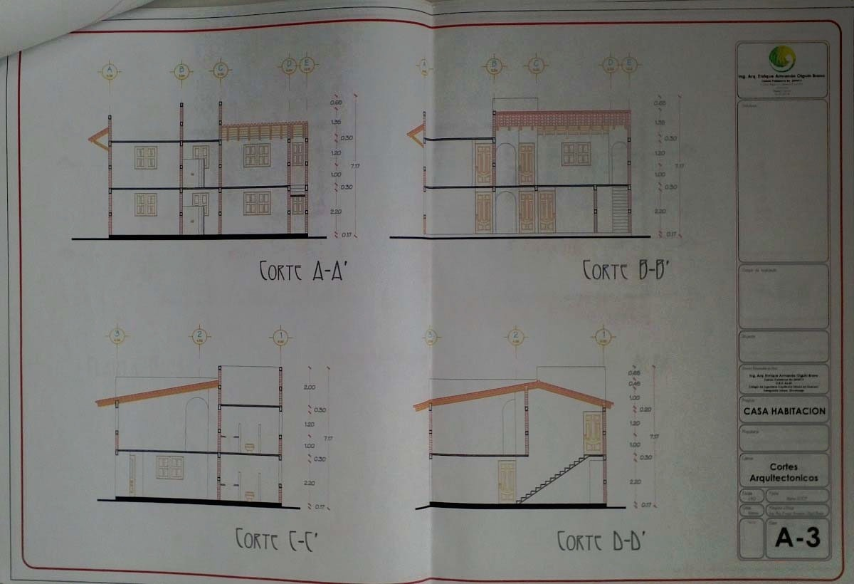 plano arquitectonico casa 2 pisos 4 en mercado