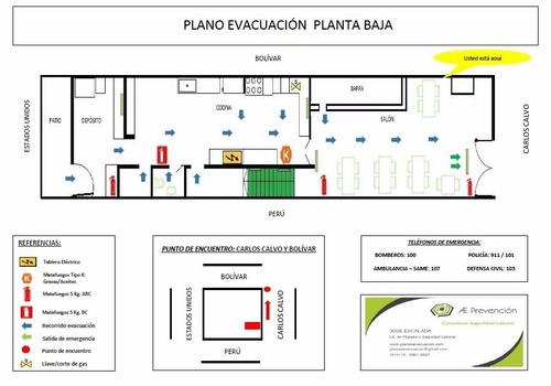 plano de evacuacion plan ley 5920 sistema de autoproteccion