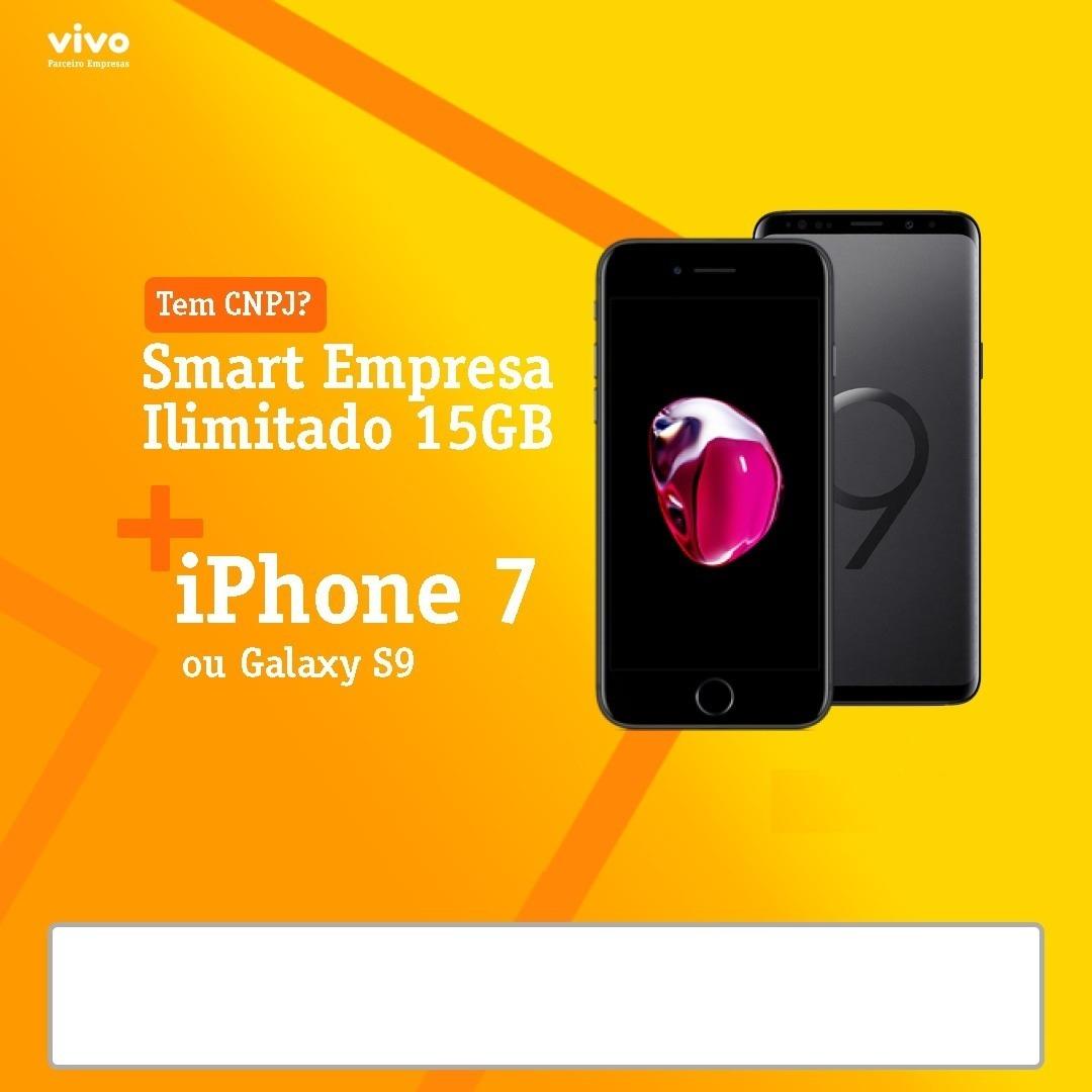 Plano Ilimitado Vivo Empresas + Qualquer Smartphone Em 24x - R  6 be98a625a4c9