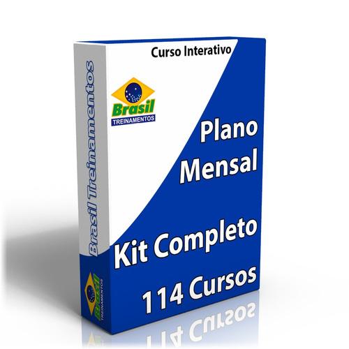 plano mensal: kit completo de cursos para escolas