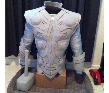 Planos Armadura Thor Pepakura Marvel Vengadores Hulk Loki