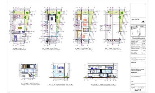 planos arquitectónicos casa habitacion