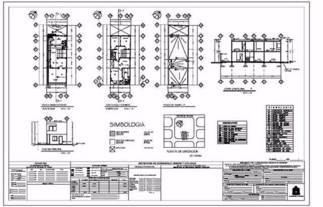 Planos arquitectonicos dise os autocad 3 en for Planos de casas 6x20
