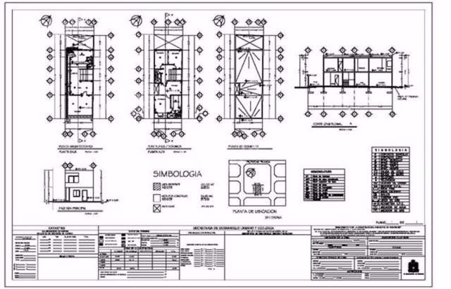 Planos arquitectonicos dise os autocad 3 en for Planos arquitectonicos de casa habitacion