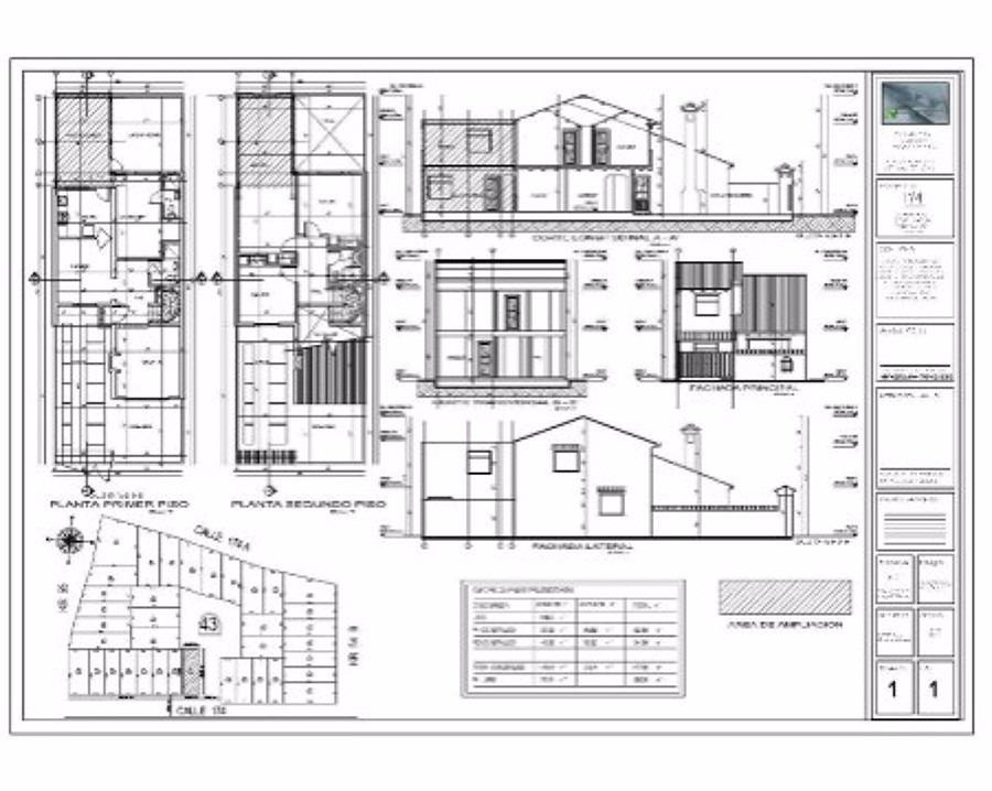 Planos arquitectonicos dise os autocad 3 en for Planos de arquitectura pdf