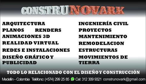 planos arquitectónicos estructurales 3d renders r.virtual