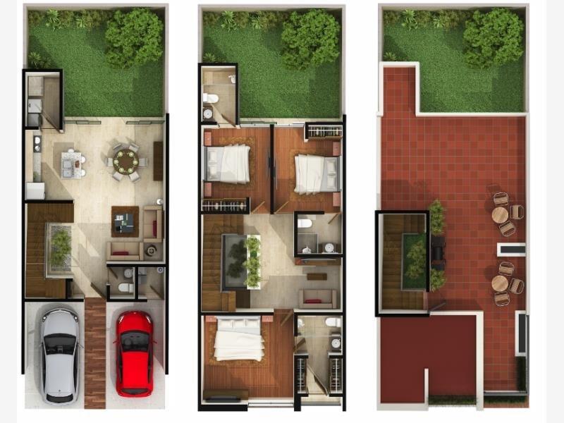 Planos arquitectonicos proyecto casa habitacion duarq for Plantas arquitectonicas de casas