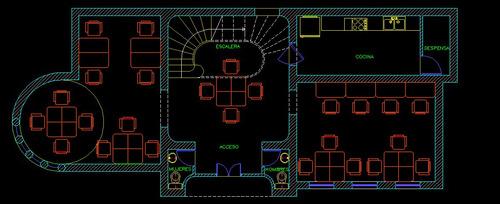 planos arquitectura 2d en autocad s/.20 x m2