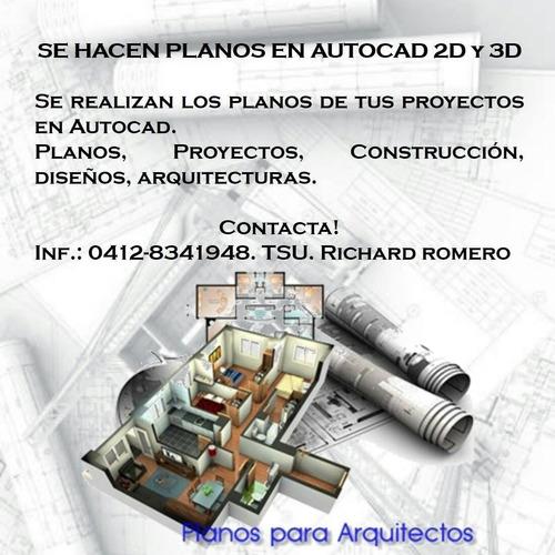 planos autocad 2d/3d
