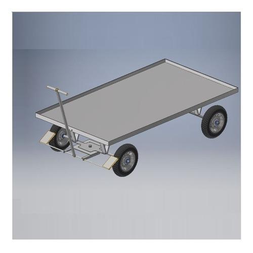 planos carreta industrial carretilla fabrica carrito