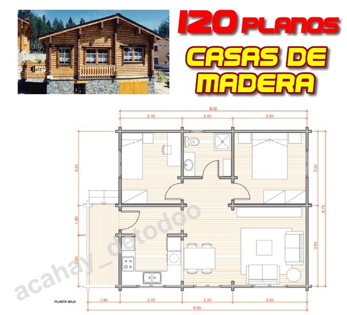 Planos de chalets planos de casas planos de casas a for Planos de madera