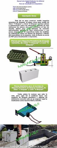 planos construye maquina ponedora bloques 10 y 12 cm