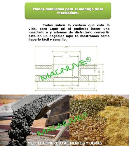 planos construye mezcladora cemento alimentos concreto