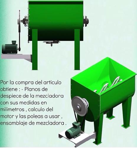 planos construye mezcladora cemento alimentos concreto condi