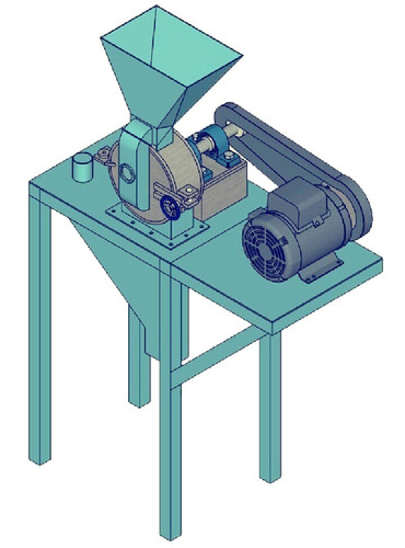planos construye molino pulverizador de maiz + receta pdf