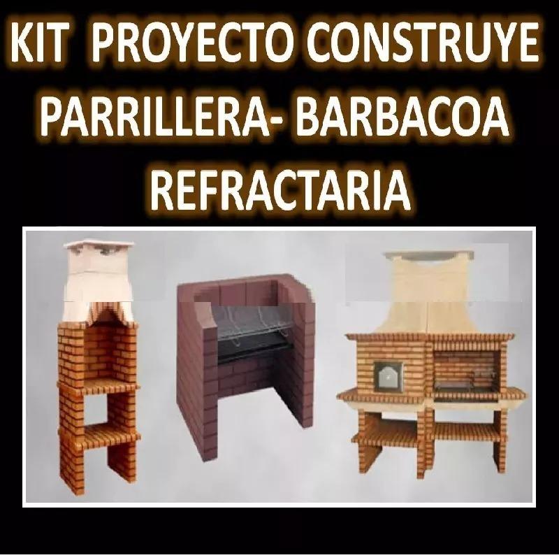 Planos Construye Parrillera Barbacoa Refractaria C/ Chimenea - S/ 10 ...