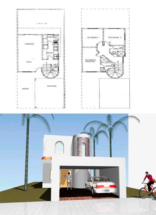 Planos de casas infonavit listos para construir 1 250 - Casas miniaturas para construir ...