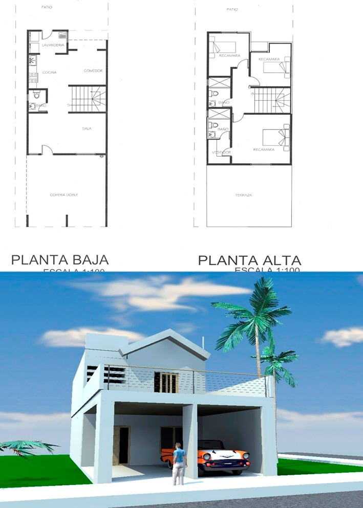 Planos de casas tipo medio listos para construir 2 000 - Casas miniaturas para construir ...