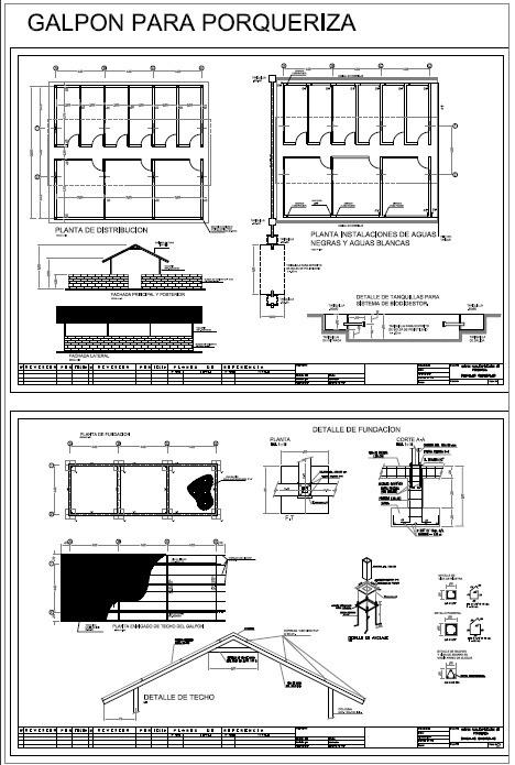 Planos De Galpones Porqueriza Gallinas Taller Mecanico