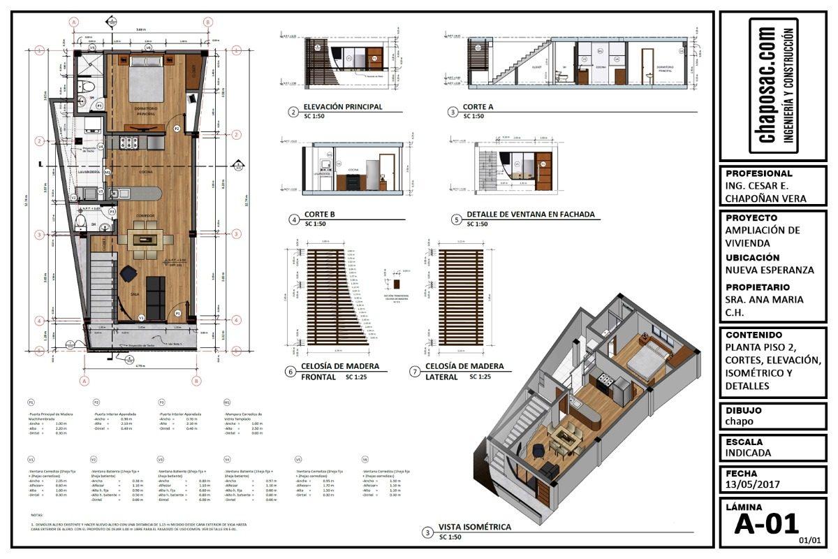 Planos De Para Construcción O Ampliación De Casa S 10000 En