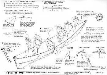 planos digitales catamaran tiki 21 wharram