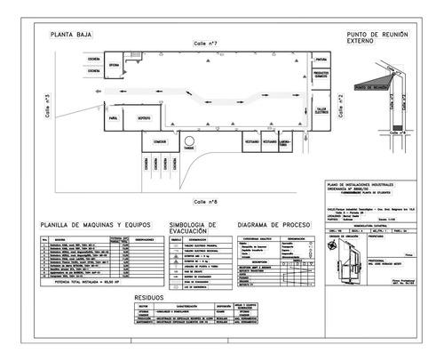 planos electromecánicos - red de incendio - evacuación