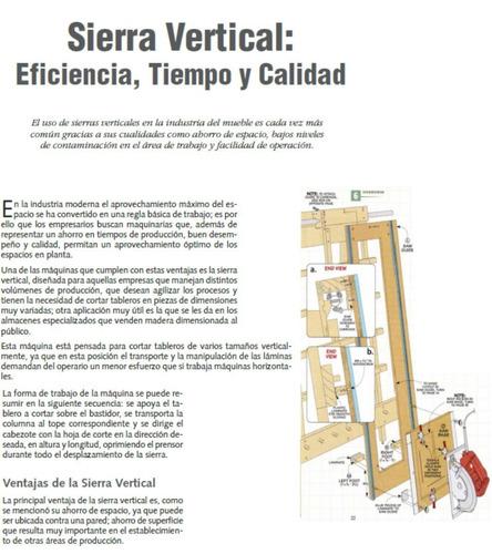 planos manual para construir sierra vertical carpintería.