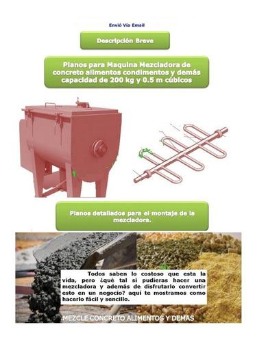 planos mezcladora cemento concreto revolvedora alimentos