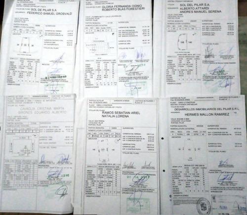 planos municipales permiso aprobado pilar escobar zona norte