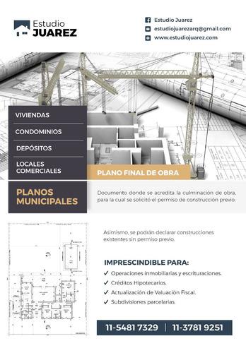 planos municipales, pilar, procrear, habilitaciones, obras.