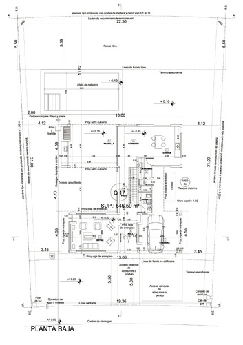 planos municipales , proyecto, direccion y construccion