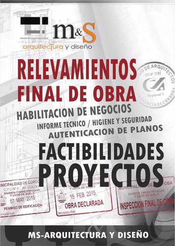 planos municipales, proyecto, relevamiento, final de obra.